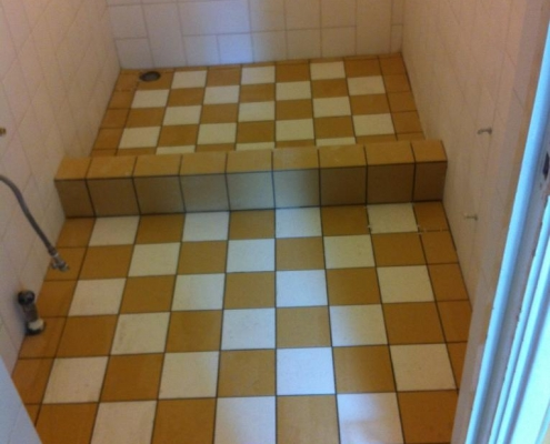 new renovated shower