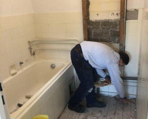 herstel badkamer