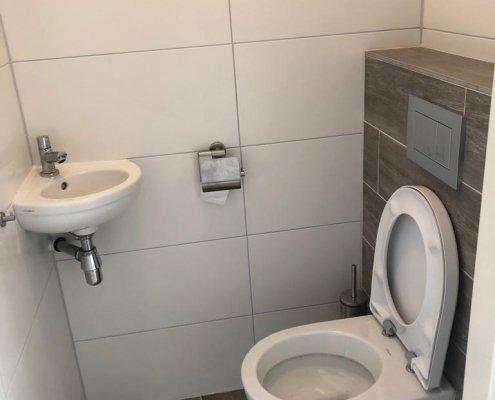 new installed toilet